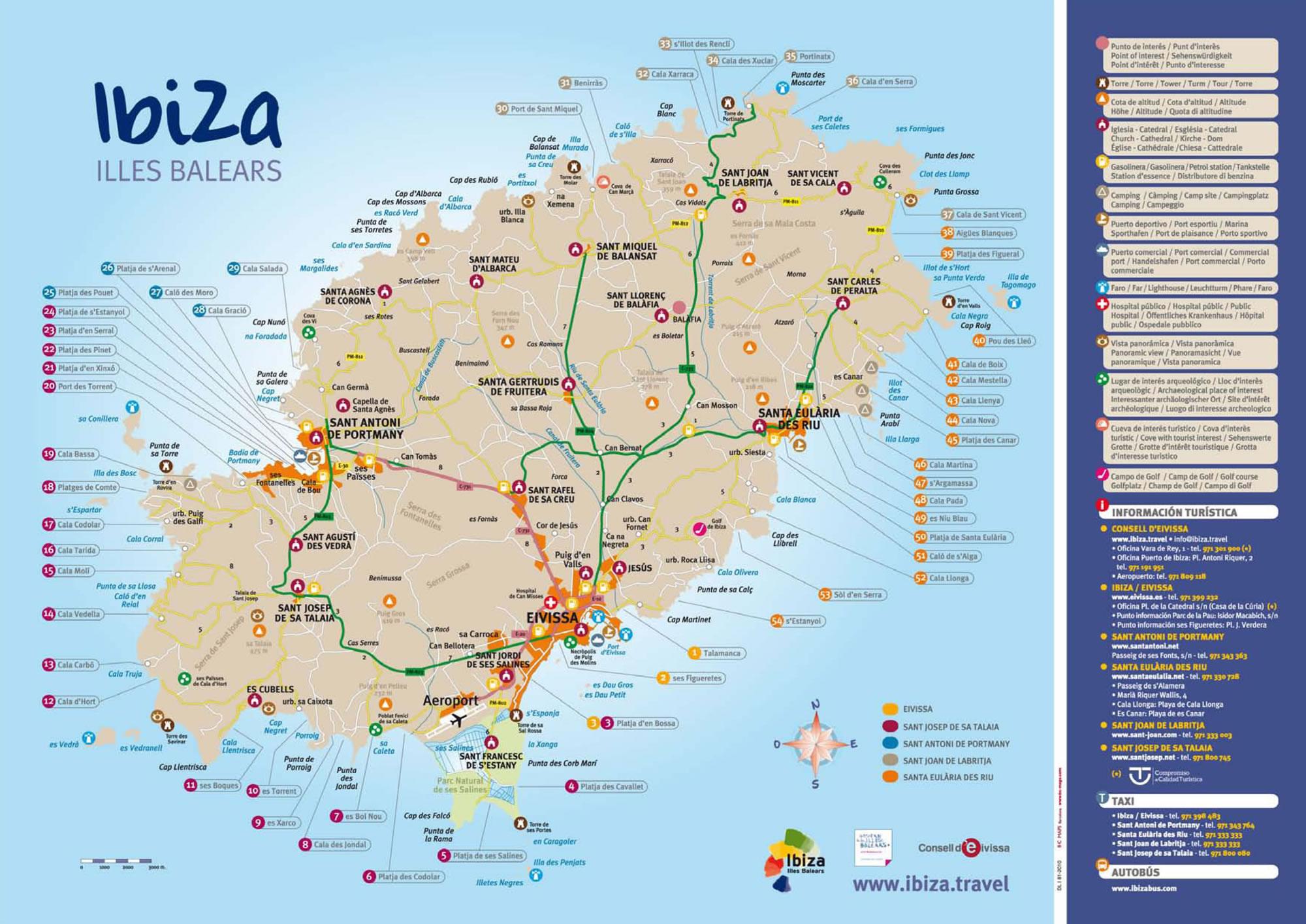 Mapa turismo ibiza for Oficina de turismo de ibiza