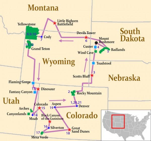 Parques nacionales del oeste de Estados Unidos