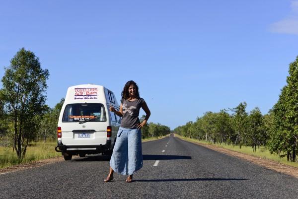 Las eternas carrteras de Kakadu NP y los territorios del Norte en caravana