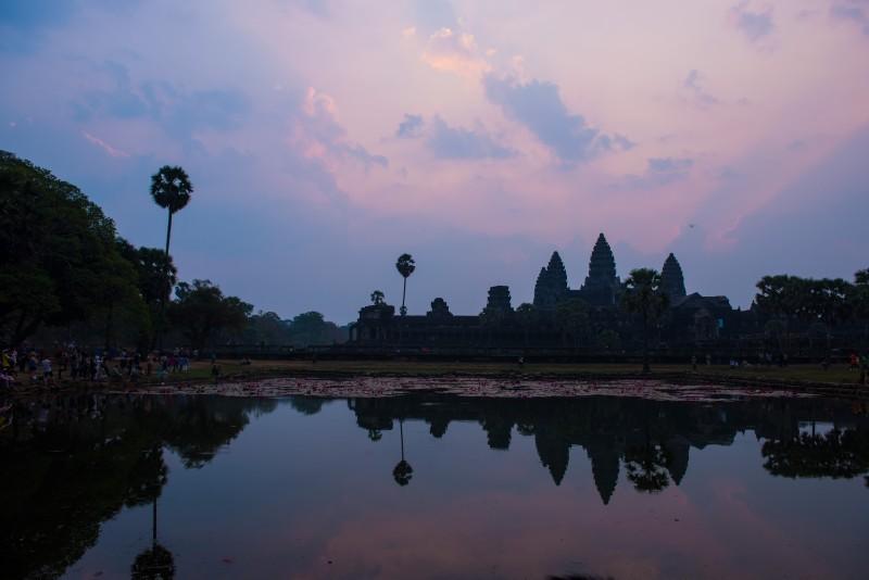Amanecer en los templos de Angkor