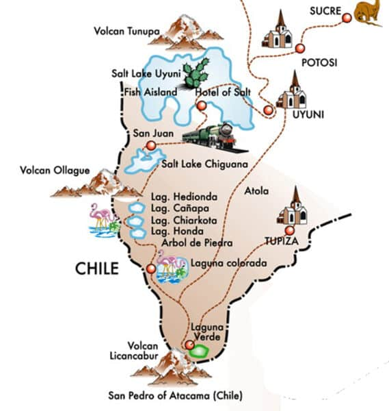 El Salar de Uyuni en Bolivia