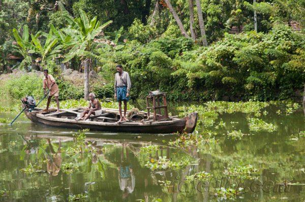Backwaters de Kerala.