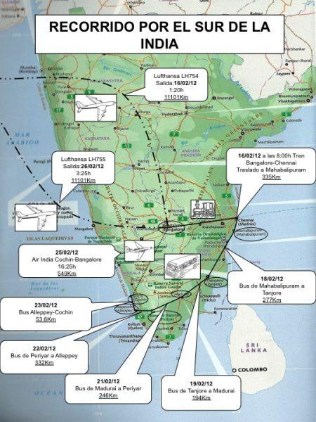 Recorrido por el sur de India