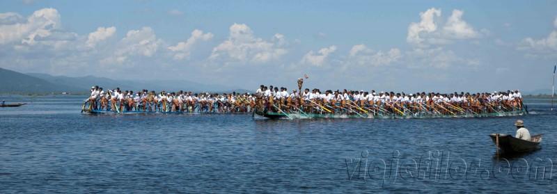 Competiciones de remos en Inle