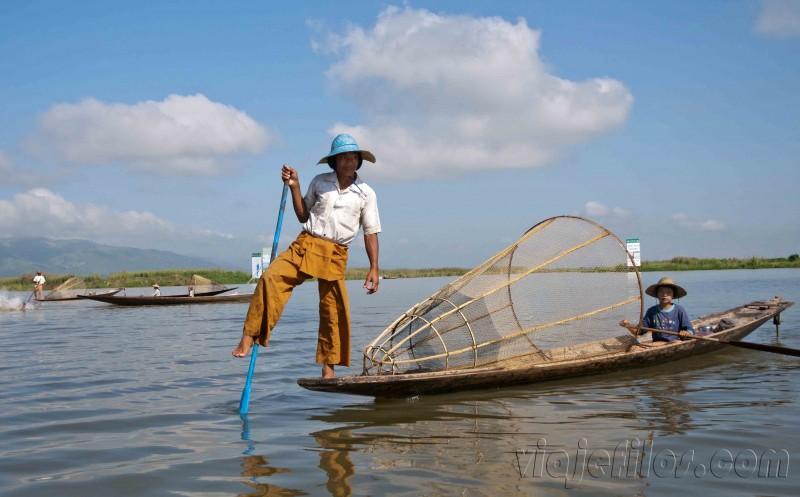 Pescadores del lago Inle