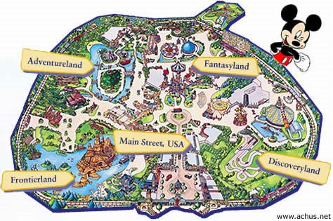Mapa de Eurodisney Paris