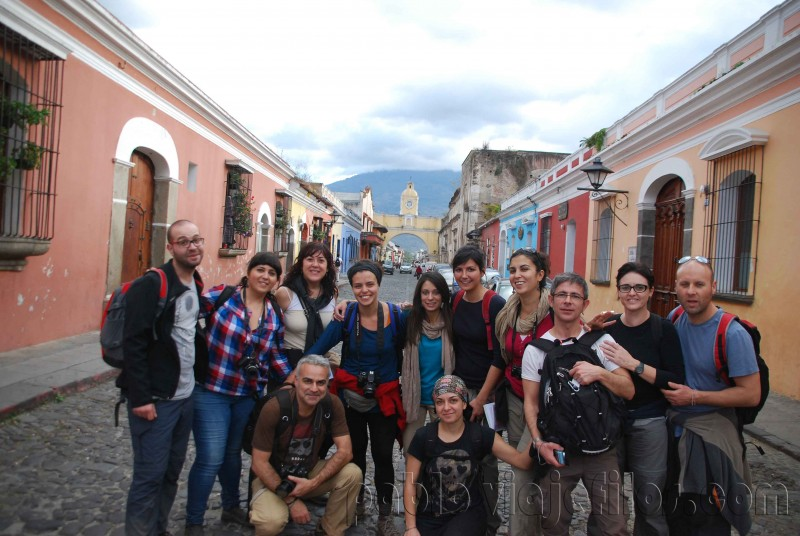 Las calles adoquinadas de Antigua Guatemala