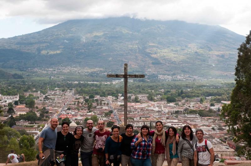 Vistas de Antigua desde el cerro de la Cruz