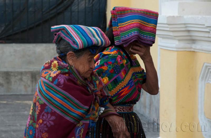 Tejedoras de la ciudad vieja de Antigua