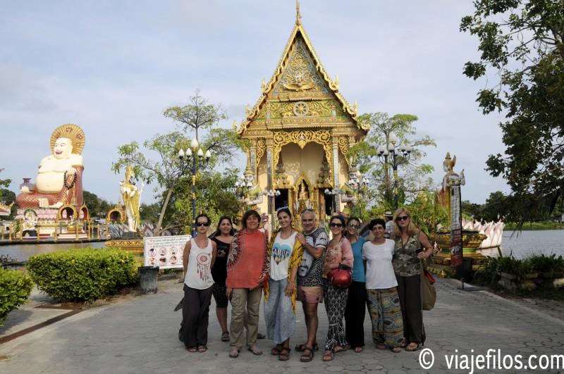 Wat Ban Plai Laem en la isla de Koh Samui