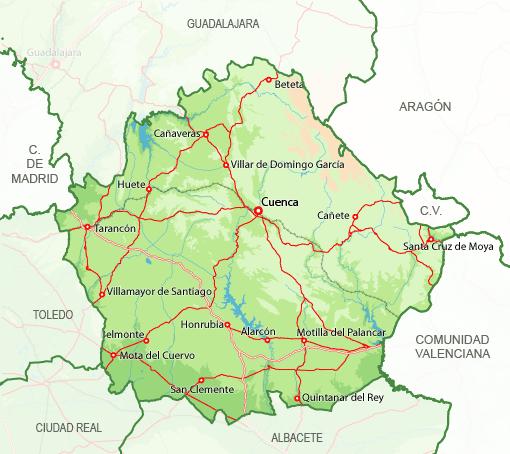 Mapa Provincia Cuenca