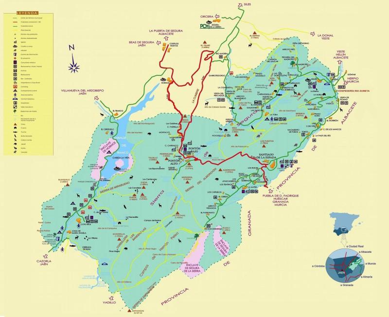 Mapa Sierra del Segura