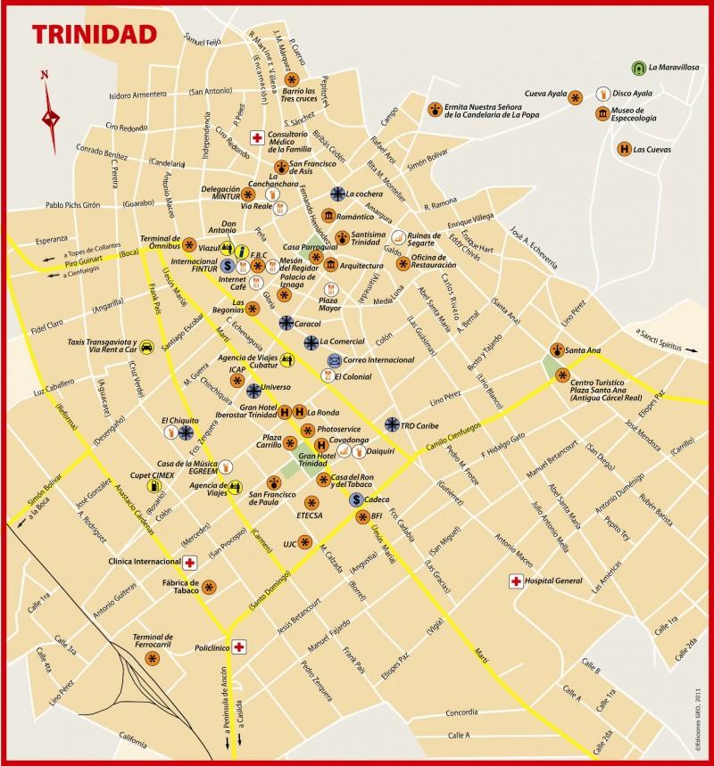Mapa Trinidad