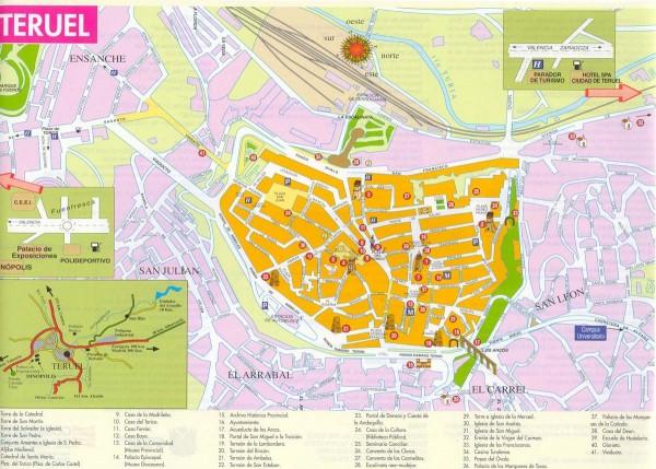 Mapa turismo Teruel