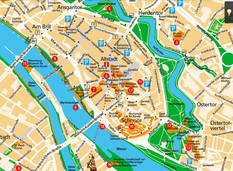 Mapa-Bremen
