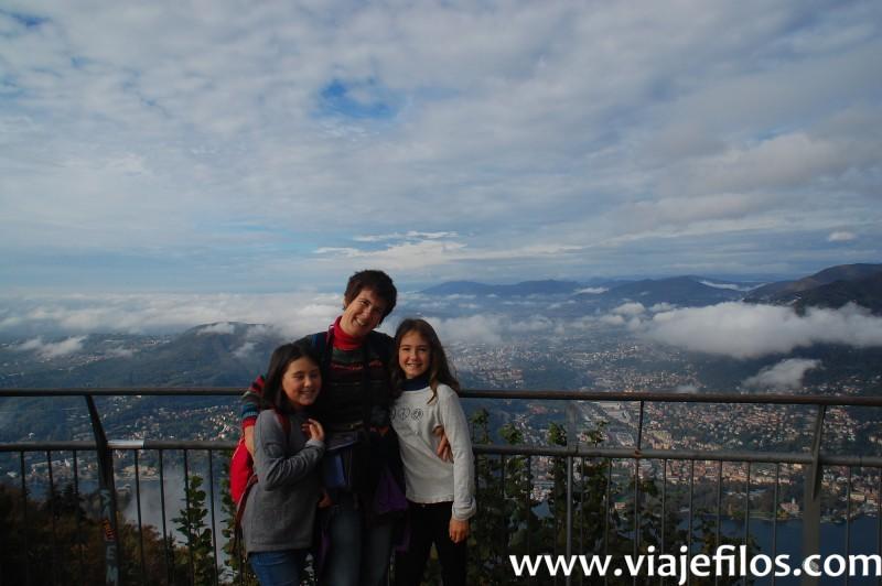 Vistas del lago Como, un viaje fantastico con las niñas