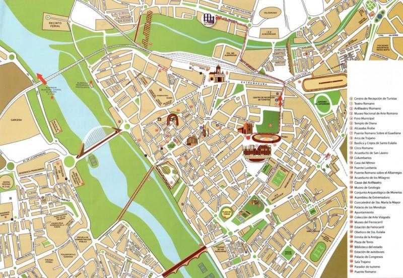 Mapa de lo mejor de Mérida