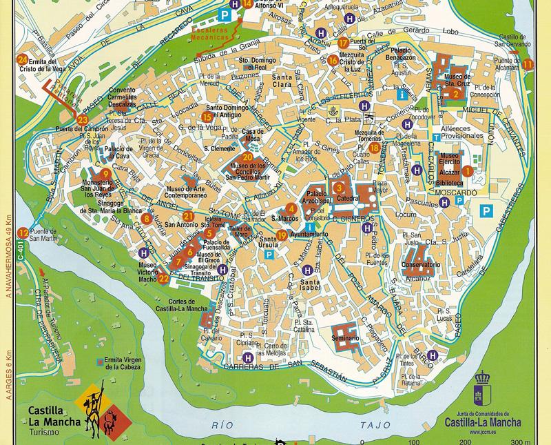 Mapa turístico de Toledo