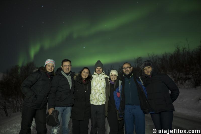 Auroras en Tromso,uno de los mejores lugares dónde ver auroras boreales