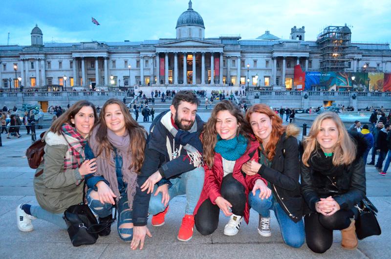 En Trafalgar Square, una de las visitas obligadas de cualquier fin de semana en Londres