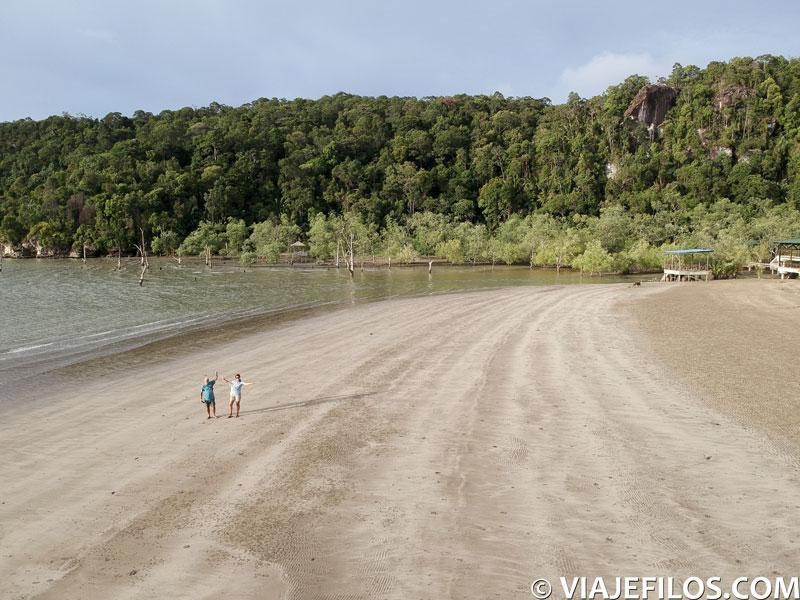 Playas del parque nacional de Bako en Malasia