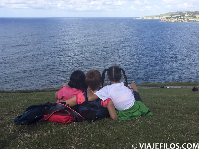 Las vistas en el Cabo de Peñas de Gijón