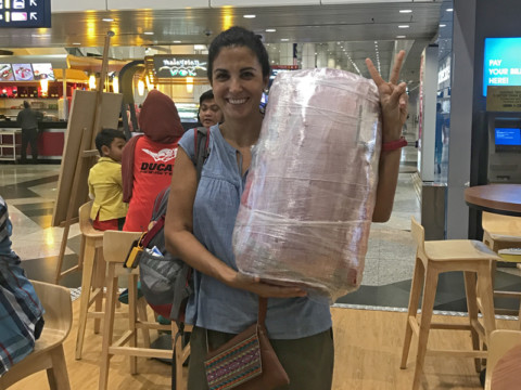 Sin mochila y con una Skol en Kuala Lumpur