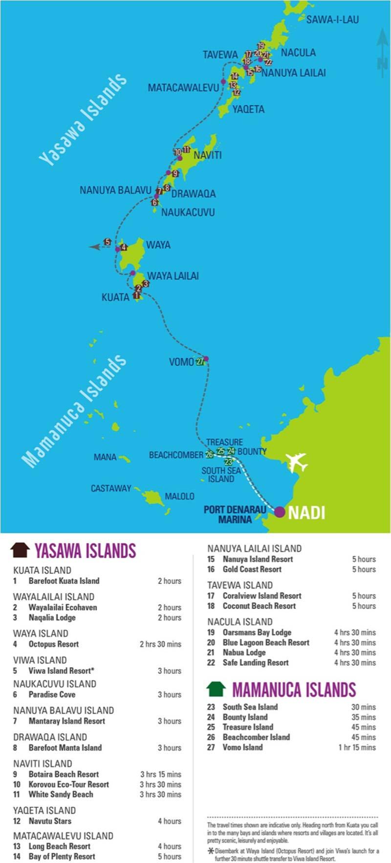 Mapa y transporte en las islas Fiji
