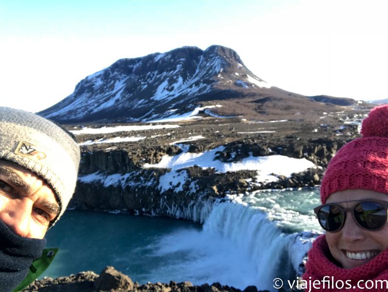 Djfafoss, Recorrido y escalas en una semana por el sur de Islandia