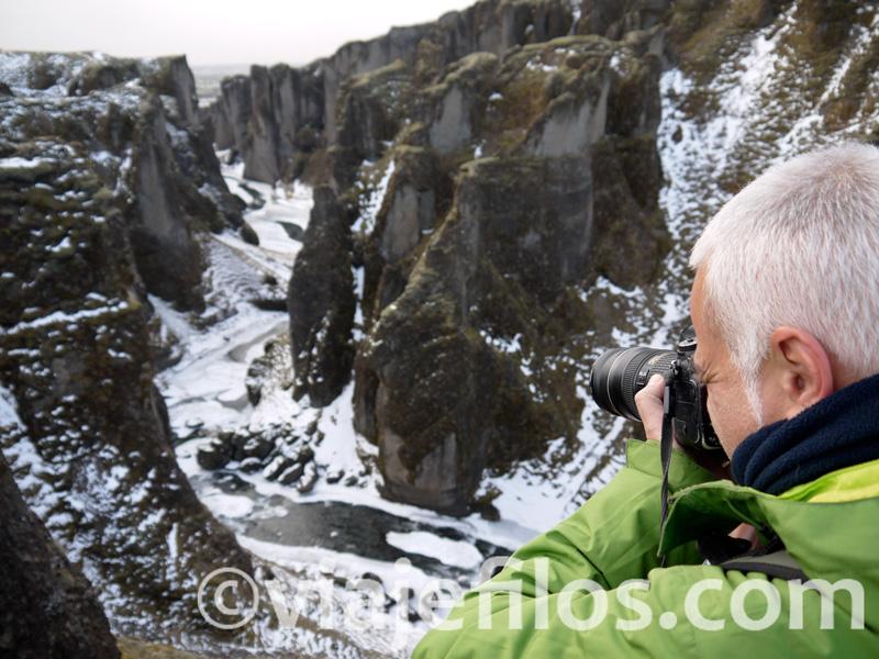 Cañón de Fjdargljufur, escala de una semana de viaje por el Sur de Islandia