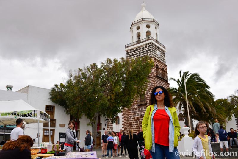 Plaza de San Miguel en la antigua capital de Lanzarote, Teguisse