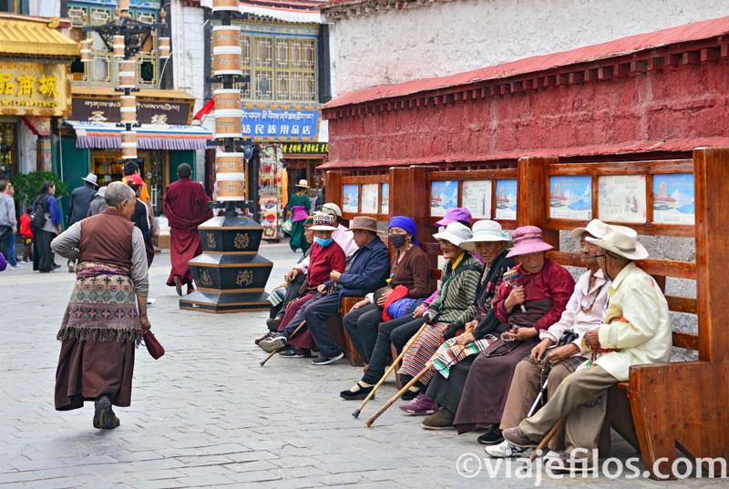Fotos de la ciudad de Lhasa de un viaje a Tíbet