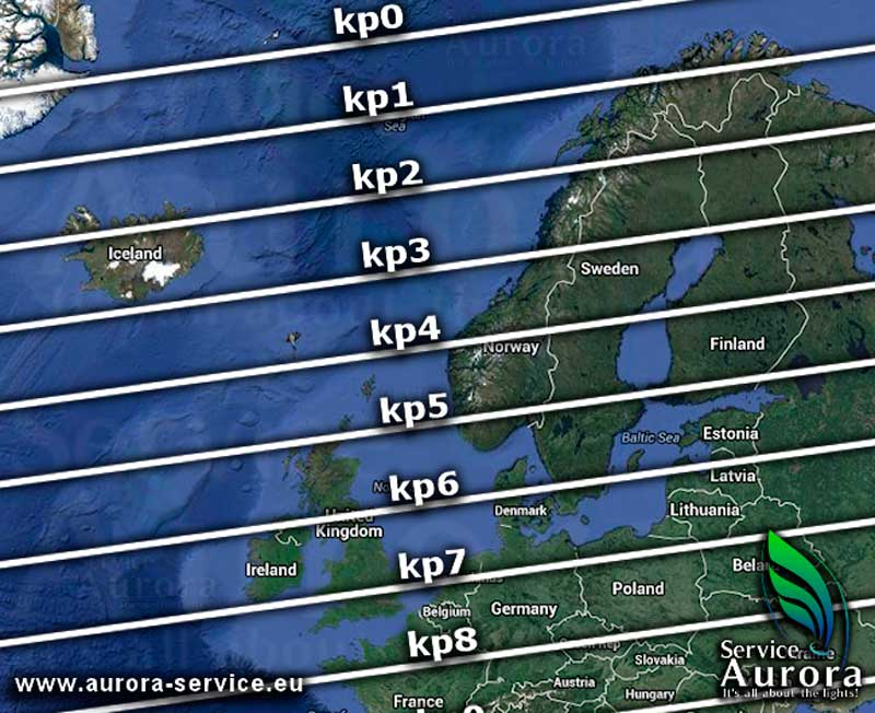 El índice kp, una de las cosas a tener en cuenta para fotografiar auroras boreales
