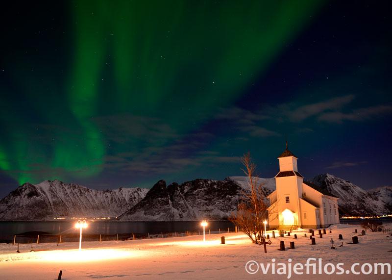 Auroras en las Lofoten, uno de los mejores lugares dónde ver auroras boreales