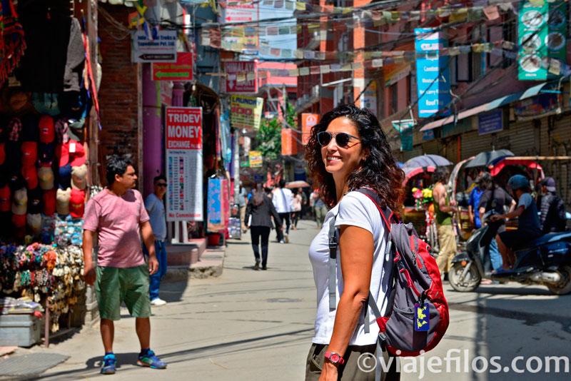 Barrio de Thamel en Kathmandú
