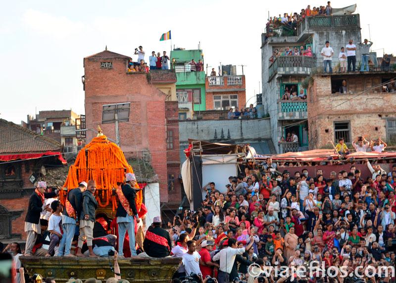 La fiesta de Indra Jatra en Kathmandú