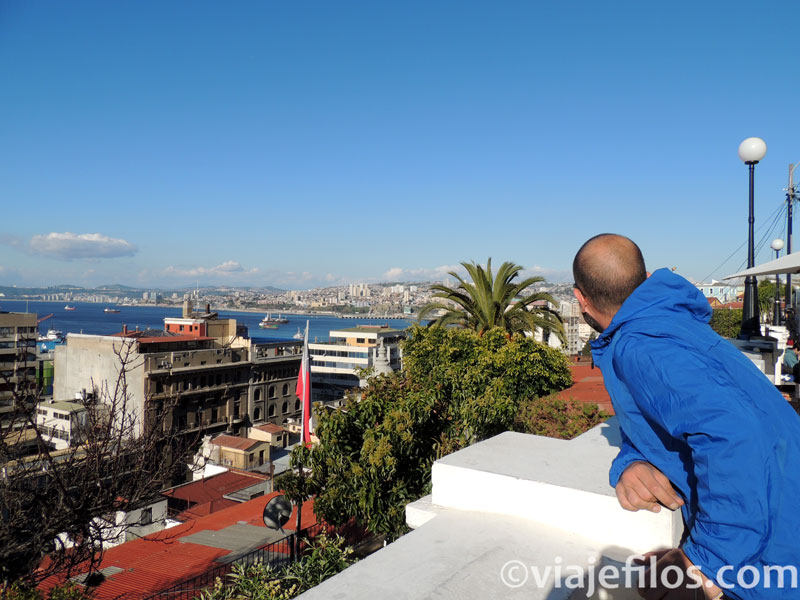 Las vistas desde el Cerro Concepción en Valparaíso, Chile