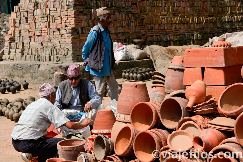 Alfareros de Bahktapur