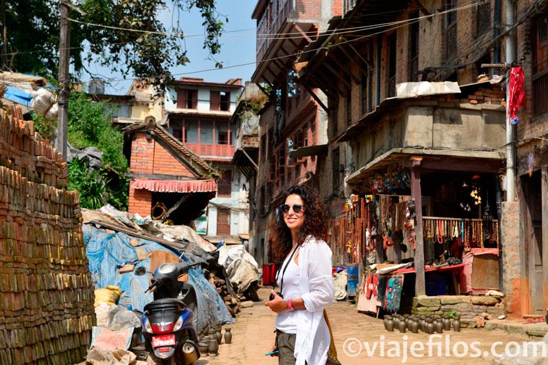 callejones de Bhaktapur