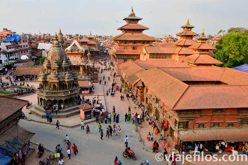 Panorámicas de la Durbar Square de Patan