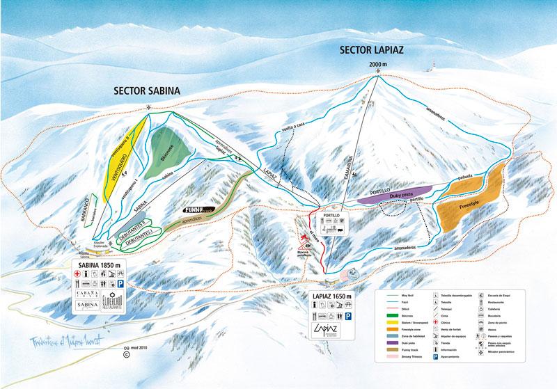 Plano de pistas de la estación de esquí de Javalambre