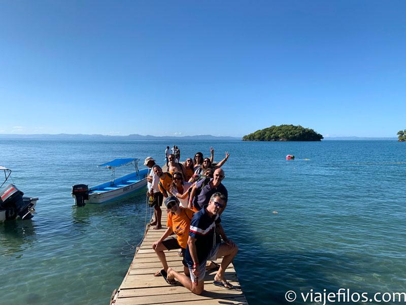 Saliendo en barca hacia en PN de los Haitises