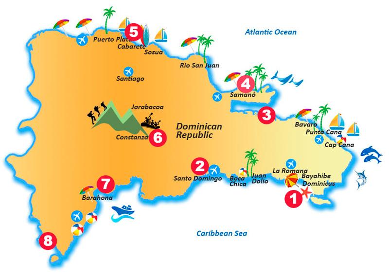 Las 8 mejores visitas de República Dominicana