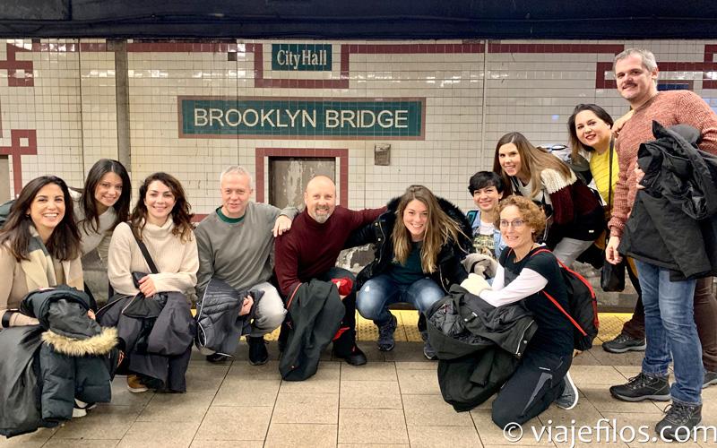 En el metro de NYC