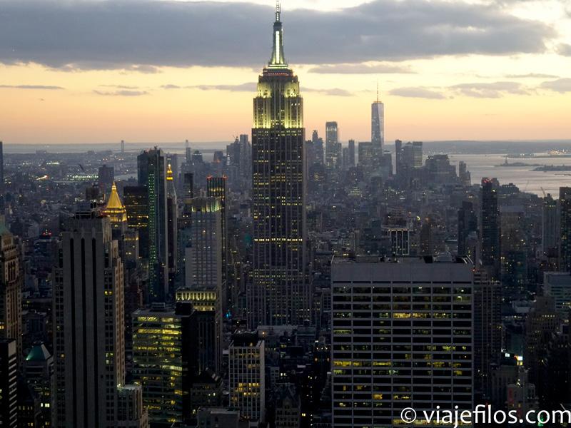 Nueva York al atardecer desde Top of the Rock