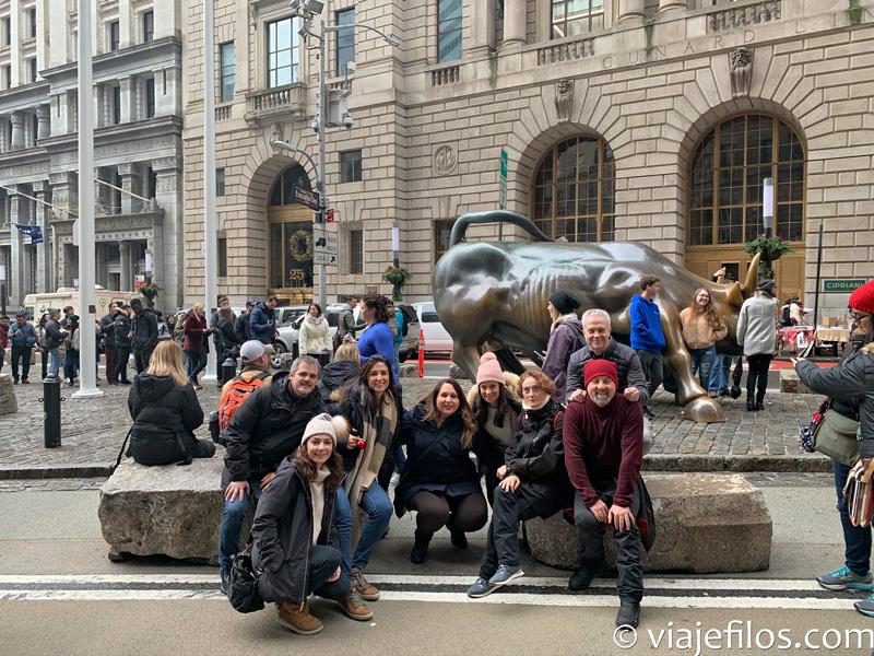 El toro del distrito financiero de Nueva York