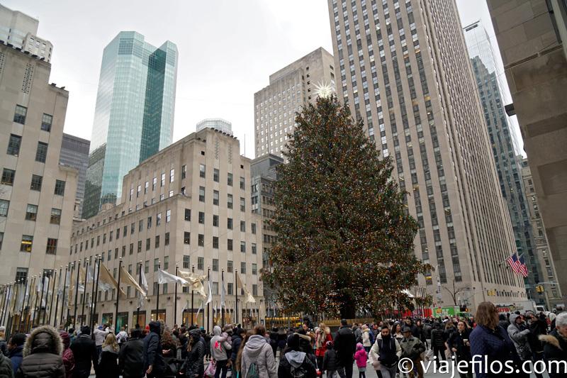 El árbol de Navidad de Rockefeller Center de Nueva York