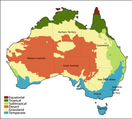 El clima de Australia