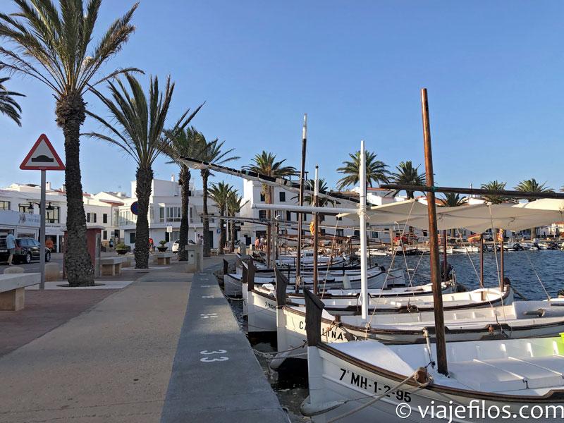 El puerto de Fornells en Menorca