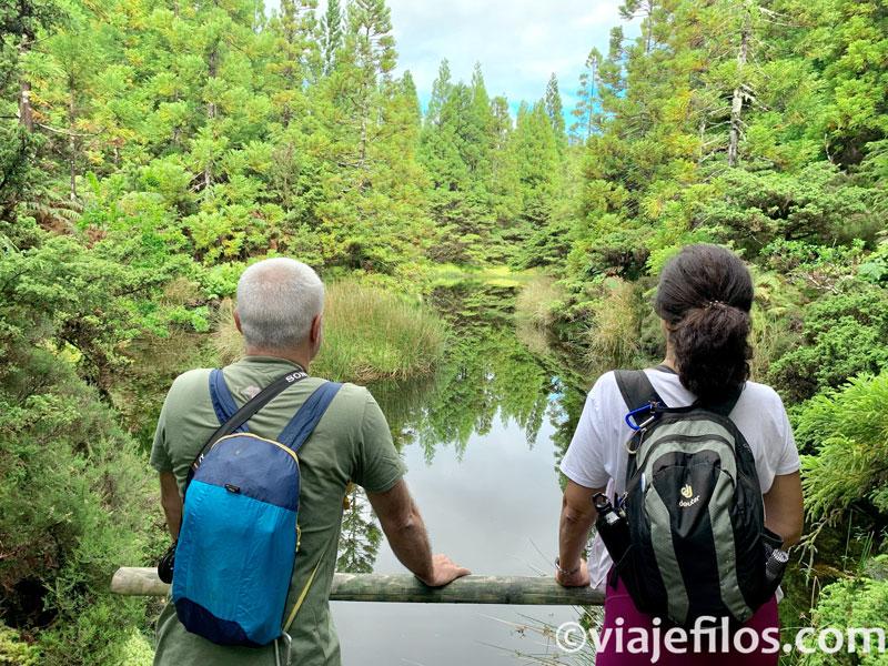 Lagunas en la ruta de Misterios Negros de Terceira